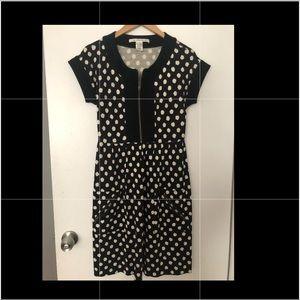 DVF Diane Von Furstenburg Black Dot Silk Dress 4